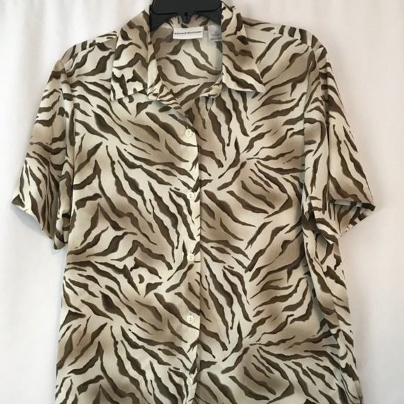 Alfred Dunner Tops Blouse Womens 12 Animal Poshmark